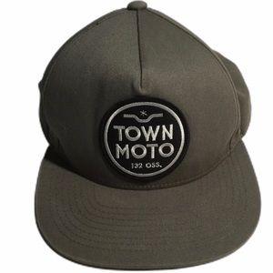 Town Moto Hat Snapback Cap Khaki. Adjustable